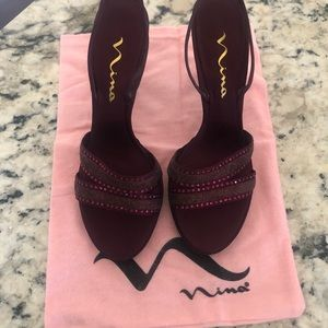 Nina Glitter Sling-back Sandal Heels